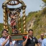 Montorio in Valle processione con la statua dell'Arcangelo