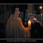 Cervara, accensione delle candele dal cero asquale