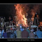Subiaco, falò nella processione del venerdì santo