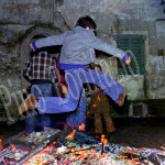 """Marano (RM), salti sul fuoco """"santo"""", 1977"""
