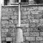 Cippo del dio Silvano nel Sacro Speco di Subiaco, 1977