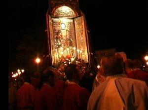 Tivoli 2009, processione dell'Assunta sul ponte Gregoriano