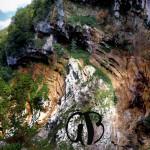 Vallone della Fossaceca all'altezza della Vena Rossa