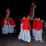 Pretara di Isola del Gran Sasso (TE), processione di S. Colomba, con S.Berardo e S.Donato