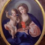 Assergi (AQ). La Madonna col Bambino del XVIII sec.,è simile al modello compositivo a lato, ma ancor più presenta forti affinità iconografiche con   opere di Sebastiano Conca.