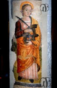Assergi-S.Caterina di Alessandria - affresco sec. XV