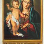Santino della Madonna della Speranza, particolarmente venerata dai Padri Passionisti. L'immagine ricalca quella precedente in bianco-nero