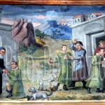 Assergi (AQ), chiesa di S. M. Assunta. Vocazione di S. Franco e suo ingresso nel monastero benedettino di Lucoli (AQ)