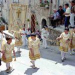 Guardia Sanframondi 1996  gonfalone del rione Croce